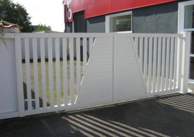 portail ajoure aluminium blanc 1