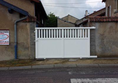 portail ajoure aluminium blanc 2