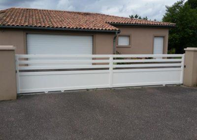 portail ajoure aluminium blanc 3