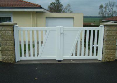 portail ajoure aluminium blanc 4