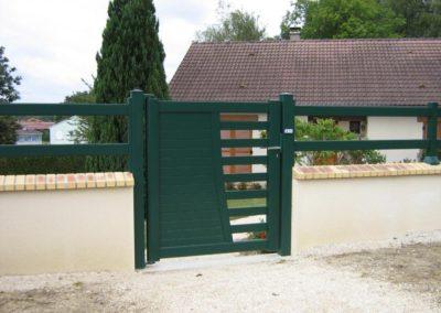 portail ajoure aluminium vert 2