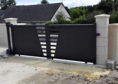 portail aluminium ajoure gris 8