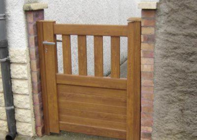 portail et portillon aluminium ajoure brun 1
