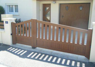 portail et portillon aluminium ajoure brun 2