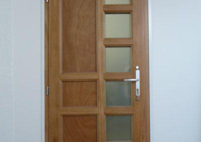 porte d entree mixte face bois