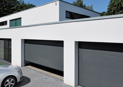 PAGE GARDE portes de garage sectionnelles grises
