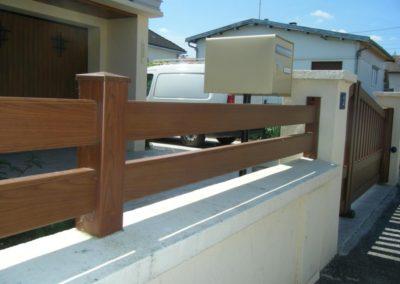 clôture lisses ton bois