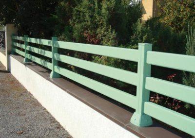 clôture lisses vert