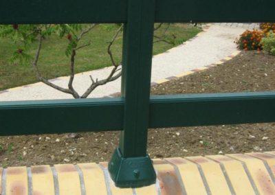 clôture lisses vert bouteille 4
