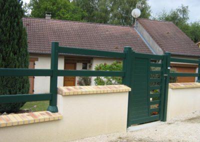 clôture lisses vert bouteille 5
