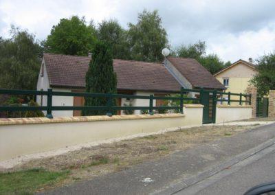 clôture lisses vert bouteille 6