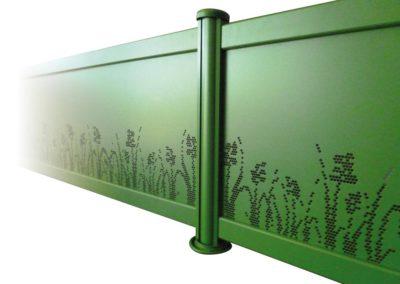 clôture pleine cépage végétal vert