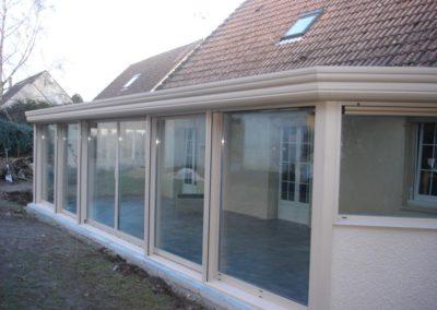 duo veranda aluminium beige volts roulants 1