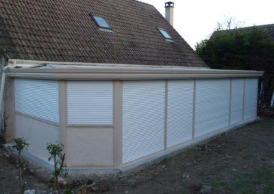 duo veranda aluminium beige volts roulants 2