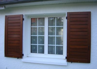 fenêtre PVC croisillons blanc