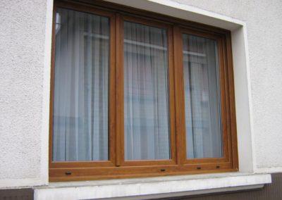 fenêtre PVC décor chêne doré 3vx