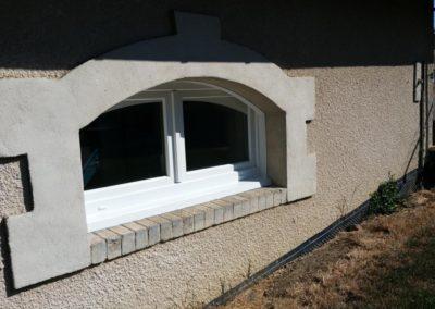 fenêtre PVC faux cintre