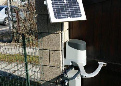 motorisation batterie solaire