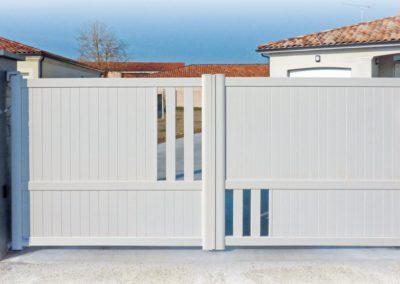 portail aluminium deco blanc 1