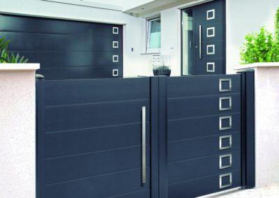 portail aluminium deco gris 3