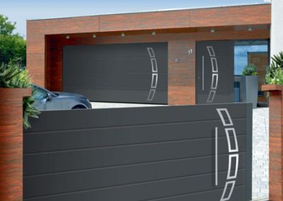 portail aluminium deco gris 5