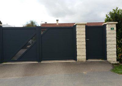 portail aluminium deco gris 6