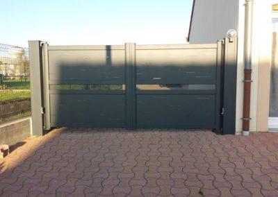 portail aluminium deco gris 8