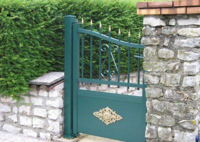 portail aluminium tradition vert 3