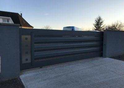 portail coulissant deco aluminium gris 3