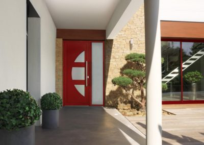 porte d entree alu rouge illustration