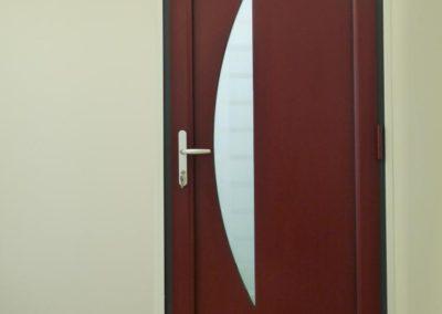 porte d entree alu rouge interieur