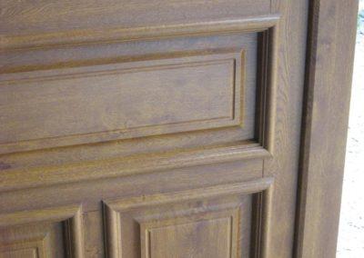 porte d entree pvc decor chene dore detail moulures