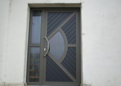 Portes d'entrée PVC contemporaines