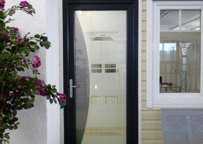 Portes d'entrée PVC et verre