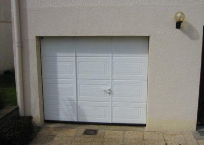 porte de garage sectionnelle blanc 1