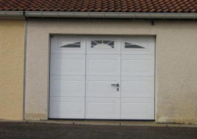 porte de garage sectionnelle blanc 19