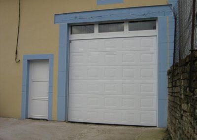 porte de garage sectionnelle blanc 2