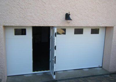 porte de garage sectionnelle blanc 4
