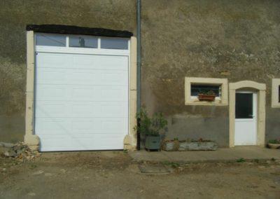 porte de garage sectionnelle blanc 7