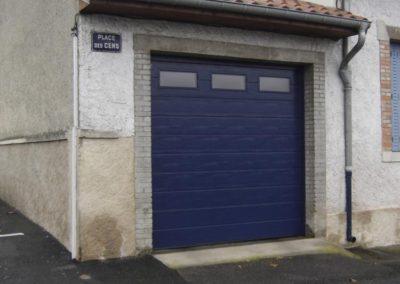 porte de garage sectionnelle bleu 2