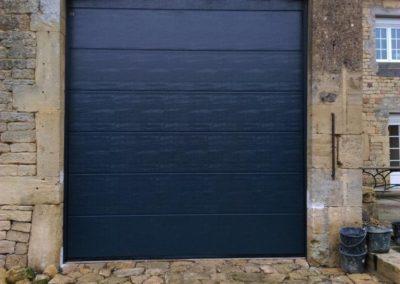 porte de garage sectionnelle bleu 4