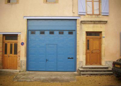 porte de garage sectionnelle bleu 5