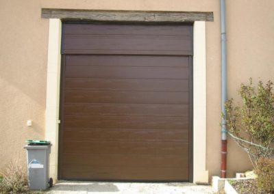 porte de garage sectionnelle brun 1
