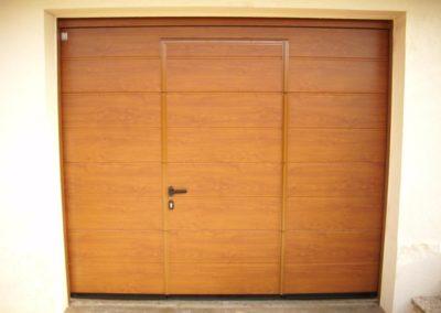 porte de garage sectionnelle décor chêne doré 10