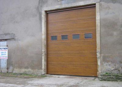 porte de garage sectionnelle décor chêne doré 11