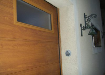 porte de garage sectionnelle décor chêne doré 5