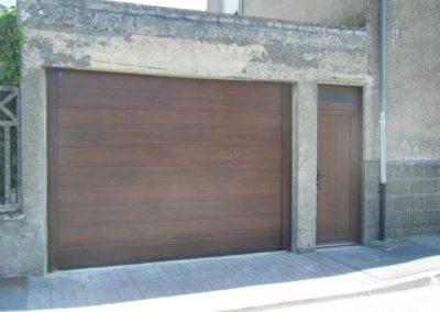 porte de garage sectionnelle décor chêne doré 6