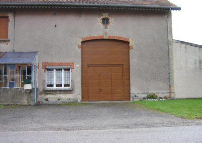 porte de garage sectionnelle décor chêne doré 7
