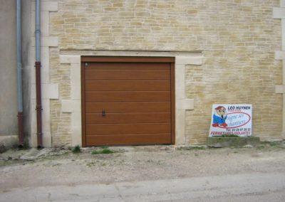 porte de garage sectionnelle décor chêne doré 9