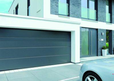porte de garage sectionnelle gris 1